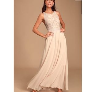 Lulus Forever and Always Blush Pink Maxi Dress